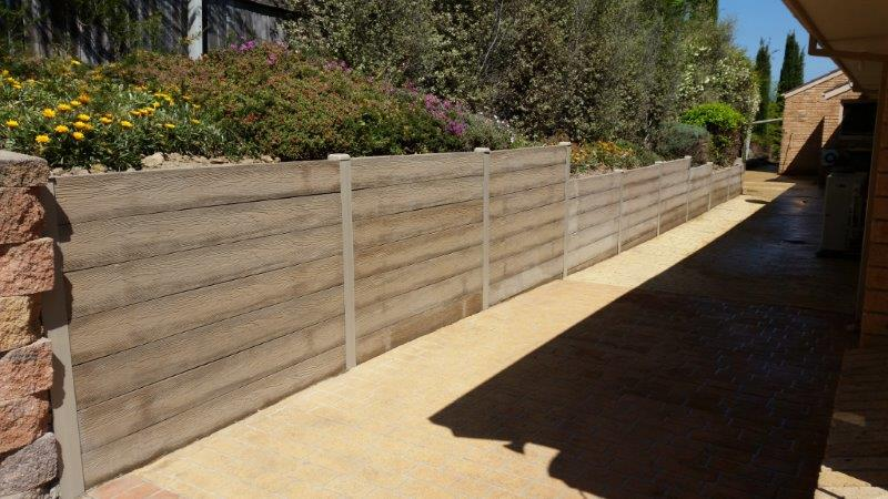 Woodgrain Tan Concrete Sleepers 1810x185x70