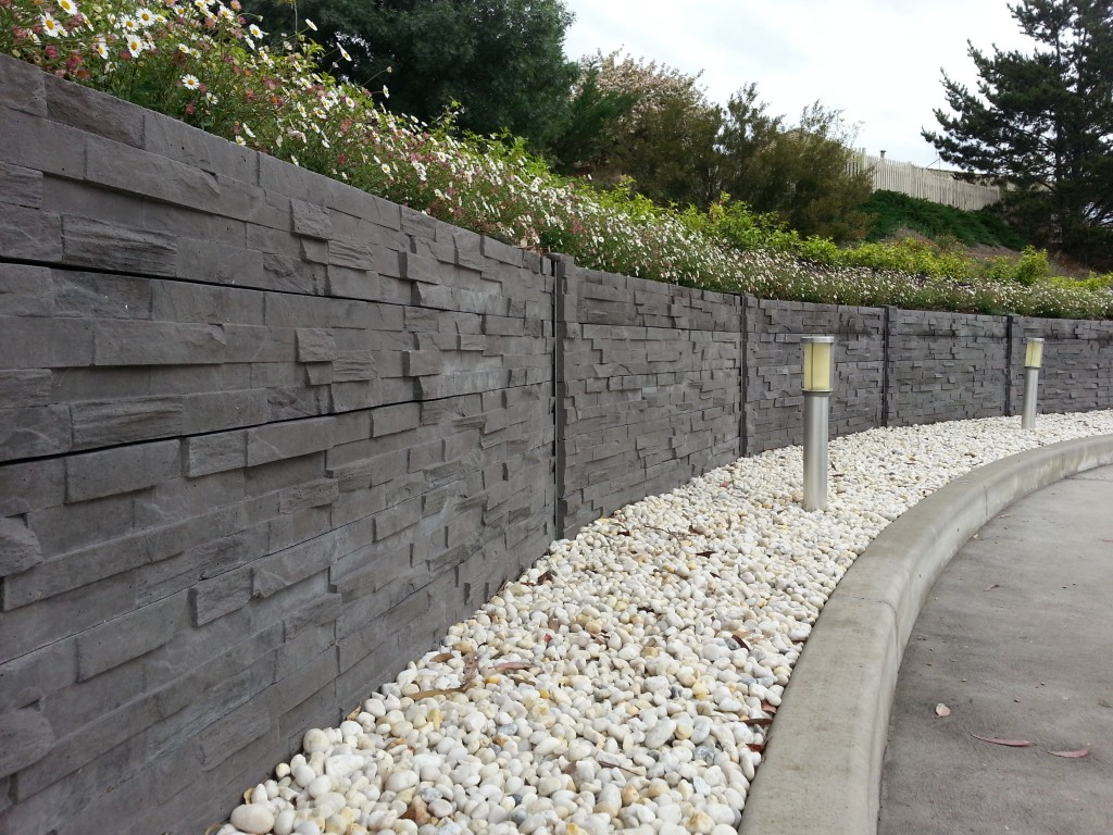 Concrete Fence Walls : Stackstone concrete sleepers